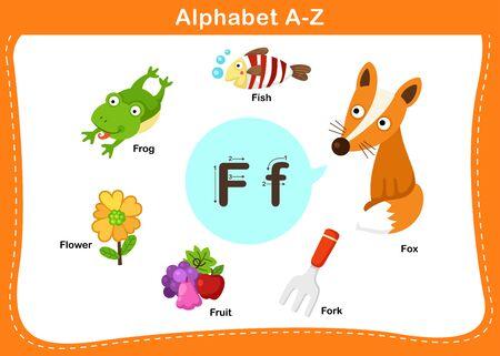 Alphabet Letter F vector illustration Illusztráció