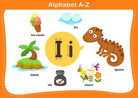 Alphabet Letter I vector illustration Ilustração