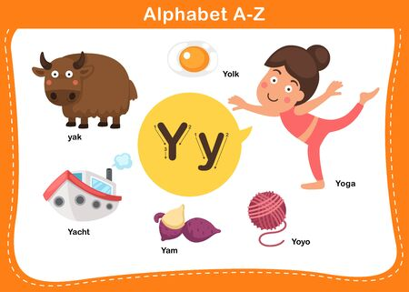 Alphabet Letter Y vector illustration 向量圖像