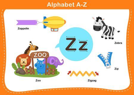 Alphabet Letter Z vector illustration Vektoros illusztráció