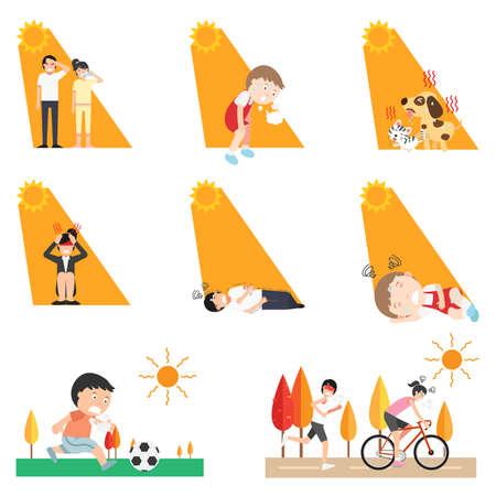Heat stroke,vector illustration. Vecteurs