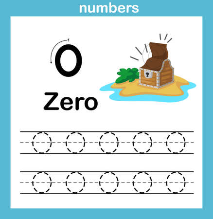 number exercise with cartoon illustration, vector 向量圖像