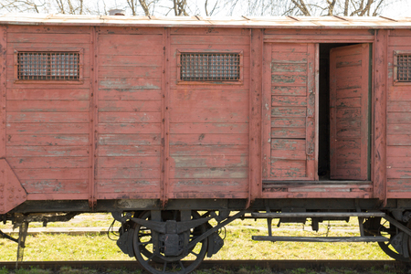 Old wooden carriage Stock Photo