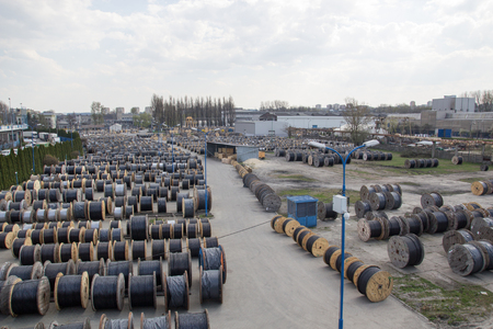 A large stock of coils with wires