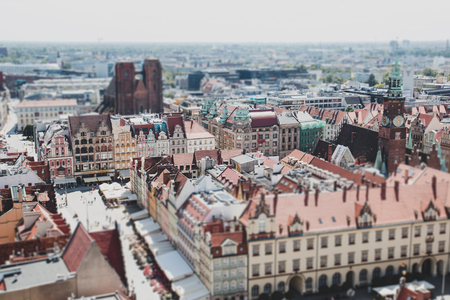 Panorama of the Central square in Wroclaw