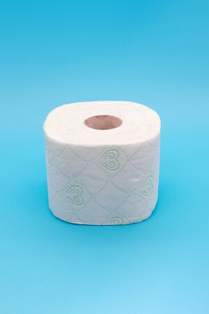 One roll of toilet paper, the concept of scarcity and panic buying of toilet paper