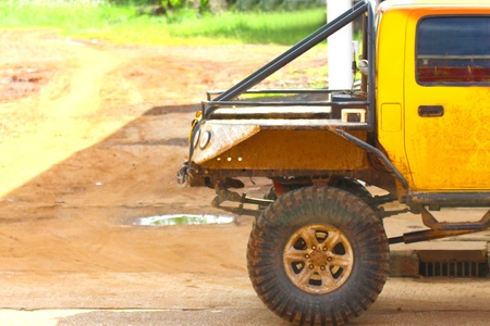 Extreme offroad car in mud photo