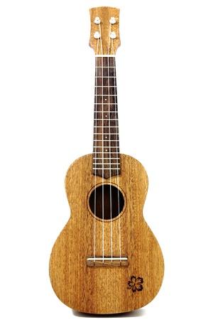 vintage ukulele isolated on white photo