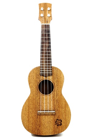 acoustic ukulele: vintage ukulele isolated on white