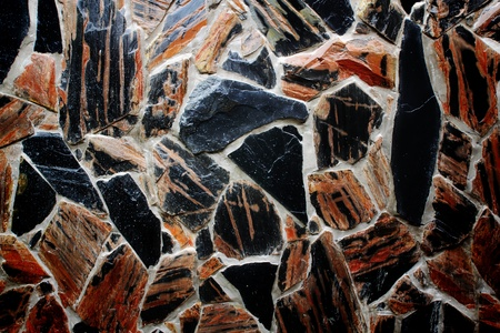 fortified wall: pattern of decorate slate stone wall background