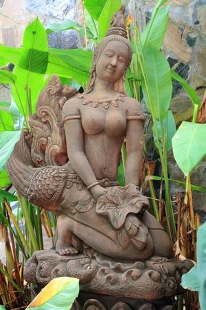 Buddhist architecture angle in garden Stock Photo