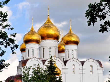 assumption: Domes of the Assumption Cathedral - Yaroslavl, Russia