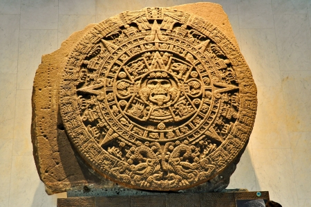 anthropological: 24-Ton Mayan Stone Calendar - Mexico City, Mexico