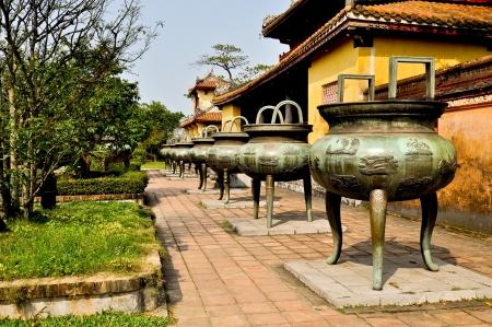 Nine Dynasty Urns - Hue, Vietnam Stock Photo