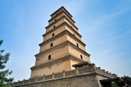 Giant Wild Goose Pagoda - Xian, China Stock Photo - 14692655