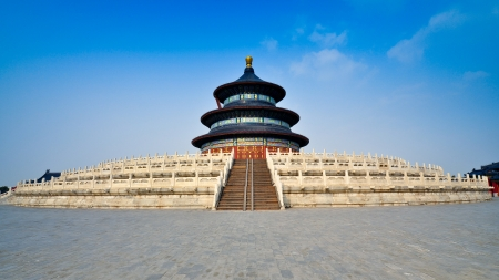 temple of heaven: Hall of Prayer for Good Harvests in the Temple of Heaven - Beijing, China