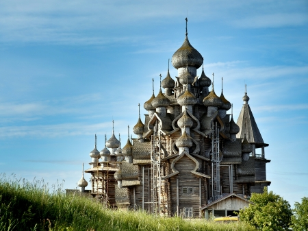 Church of Transfiguration - Kizhi Island, Russia Stock fotó