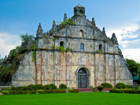 augustine: Old Church (St. Augustine) - Paoay, Ilocos Norte, Philippines Stock Photo