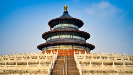 天壇 - 北京、中国で収穫の良い祈りのホール 写真素材