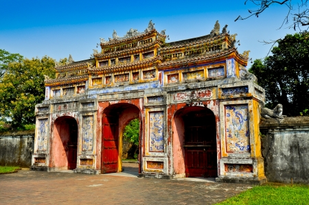 Gateway of Dien Tho - The Imperial City, Hue, Vietnam 版權商用圖片 - 14692696
