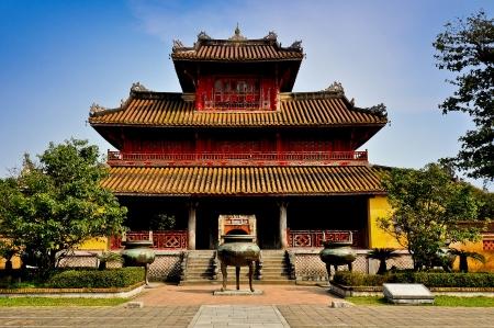 Hien Lam Pavilion - Imperial City of Hue, Vietnam Banco de Imagens - 14696041