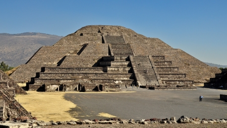 Pyramid of the Moon - Teotihuacan, Mexico Stock Photo