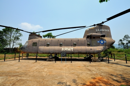 US Army Chinook Helicopter at Khe Sanh Combat Base - Quang Tri, Vietnam