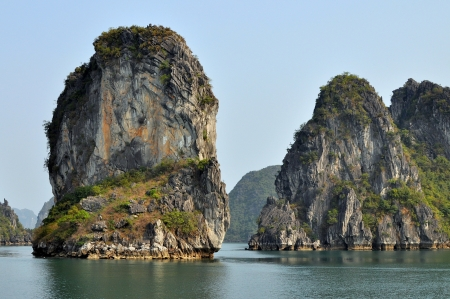 Limestone Rock Outcroppings - Halong Bay, Vietnam photo