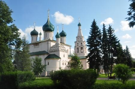 예언자 엘리야 교회 - 야로 슬라 블, 러시아 스톡 콘텐츠