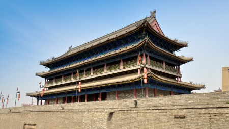 Main Tower of South Gate, Walled City of Xian, China Stock Photo - 14839759