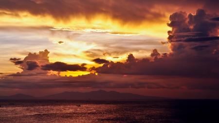 manila: Sunset Afterglow Over Manila Bay - Philippines