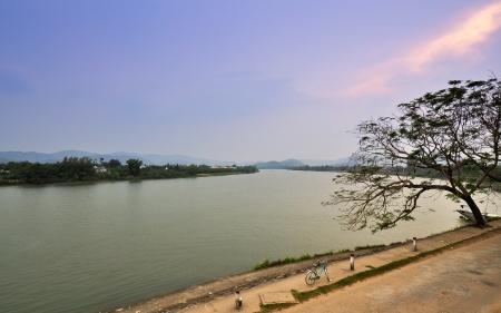 Perfume River - Hue, Vietnam Banco de Imagens