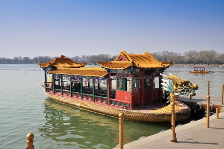Dragon Boat - Kunming Lake, Summer Palace, Beijing Stock Photo - 15036070