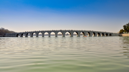summer palace: Seventeen Arch Bridge - Kunming Lake, Summer Palace, Beijing Editorial