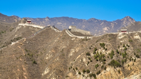 Great Wall of China in Badaling, Juyongguan Pass Stock fotó