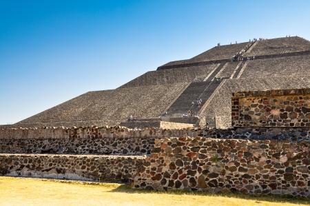 Piramide van de Zon - Teotihuacan, Mexico Stockfoto