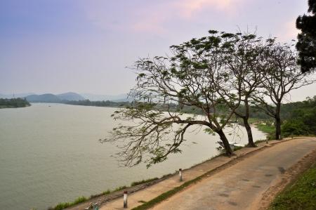 hue: Perfume River - Hue, Vietnam Stock Photo