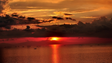 Sunset at Manila Bay - Philippines Stok Fotoğraf
