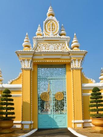 Poort naar het Koninklijk Paleis - Phnom Penh, Cambodja