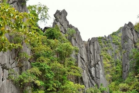 Sheer Limestone Rock Outcrops - Coron, Palawan, Philippines