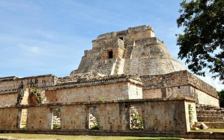 Pyramid of the Magician - Uxmal, Mexico Imagens