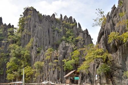 coron: Limestone Outcroppings in the Twin Lagoons - Coron, Palawan, Philippines