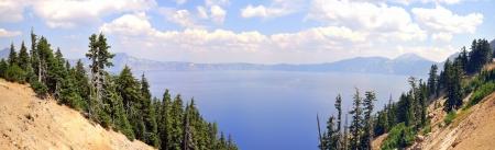 Panoramic View of Crater Lake, Mount Mazama - Klamath County, Oregon Stock Photo - 21536763