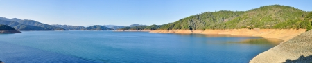Panoramic View, Shasta Dam Lake - Shasta, California Stock Photo - 21536765