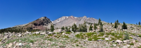 county side: Panoramic View of Mt  Shasta South West Side - Siskiyou County, California