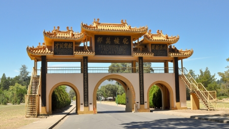 buddhas: Gate to the City of Ten Thousand Buddhas - Talmage, CA