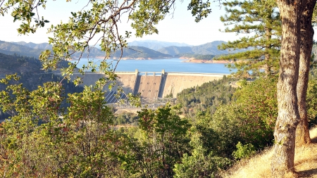 Shasta Dam - Shasta County, CA Stock Photo - 22027512