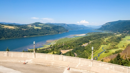 Looking East Up The Columbia River Gorge From Crown Point - Corbett, Oregon