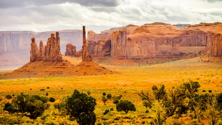 A View in Monument Valley - Navajo Tribal Park, Arizona