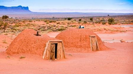 Navajo Hogans - Navajo Tribal Park, Arizona
